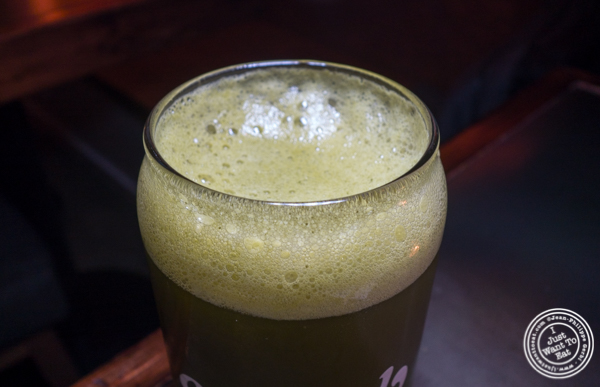 Matcha beer at Method in Hell's Kitchen, NYC, NY