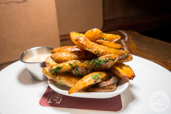 Fingerling potatoes at Vintry, Wine and Whisky Bar in the Financial District