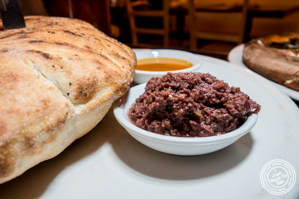 Puffy bread with tapenade at Annabel in Hell's Kitchen