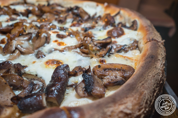 Mushroom medley pizza at Annabel in Hell's Kitchen