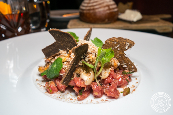 Beef tartare at The Clocktower in NYC, NY