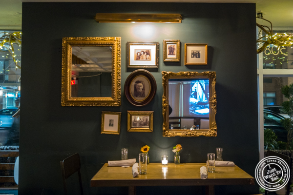 Dining room at Blue dog cafe in NYC, NY