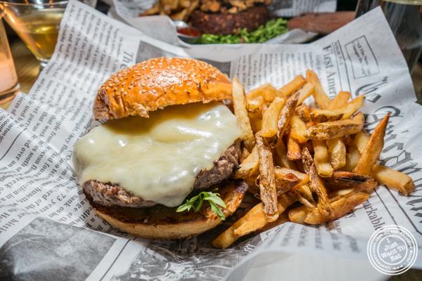Cheesus Christ burger at Blue dog cafe in NYC, NY