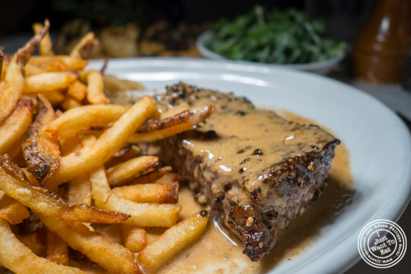 Steak au poivre at Raoul's in Soho, NYC, NY