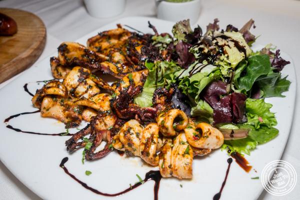 Calamarares a la parrilla at Chimichurri Grill West in Hell's Kitchen