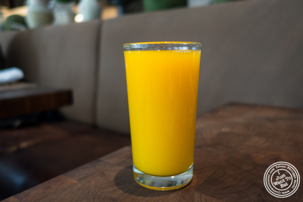 Fresh squeeze orange juice at Marta in NYC, NY