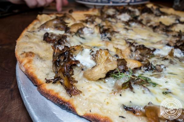 Mushroom pizza at Marta in NYC, NY