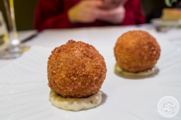 Cauliflower croquette at Marea in NYC, NY
