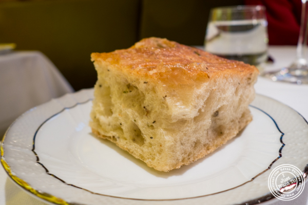 Focaccia bread at Marea in NYC, NY