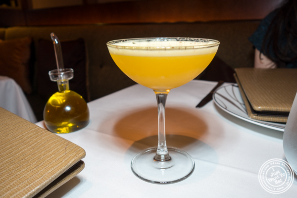 Sgt Pepper cocktail at Aureole in NYC, NY