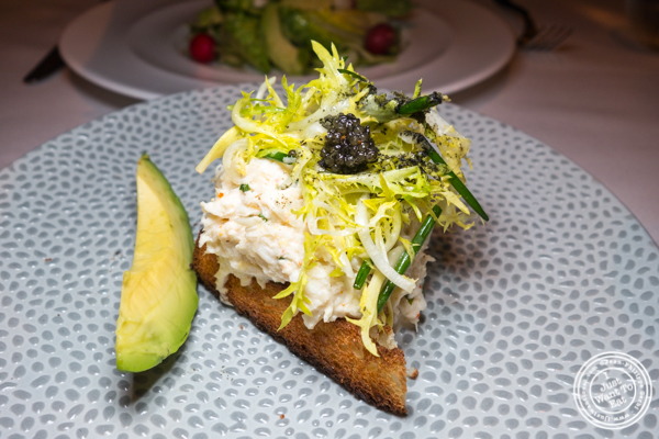 King crab + apple at Aureole in NYC, NY