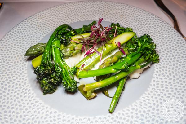 Seasonal vegetables at Aureole in NYC, NY
