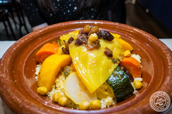 Vegetable couscous at Barbes in Hoboken, NJ