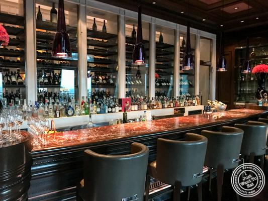 Bar area at Le Cirque in Delhi, India