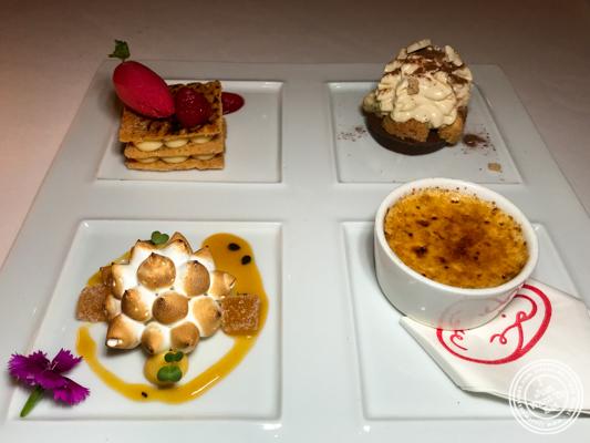 Dessert sampler at Le Cirque in Delhi, India