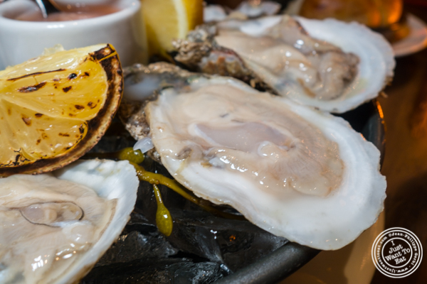 East coast oysters at Butcher and Banker steakhouse in NYC, NY