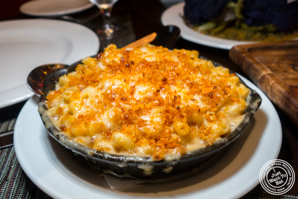 Mac and cheese at Butcher and Banker steakhouse in NYC, NY