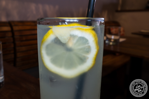 Rosemary lemonade at Atrium Dumbo in Brooklyn