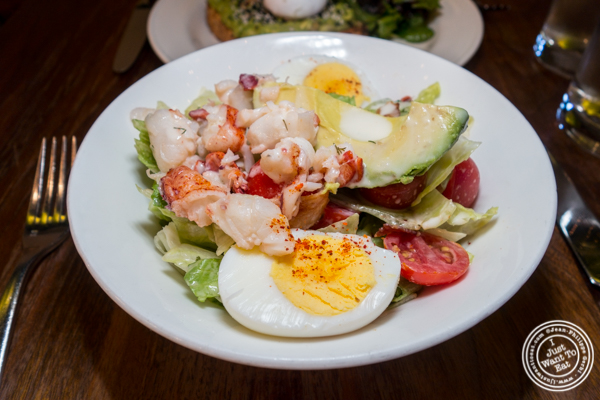Cobb salad with lobster at Atrium Dumbo in Brooklyn