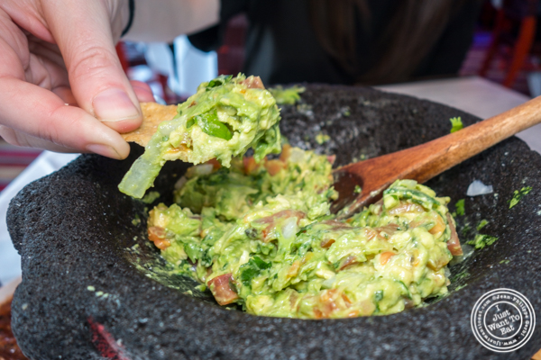 Guacamole at Rosa Mexicano near the Lincoln Center