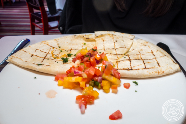 Cheese quesadilla at Rosa Mexicano near the Lincoln Center