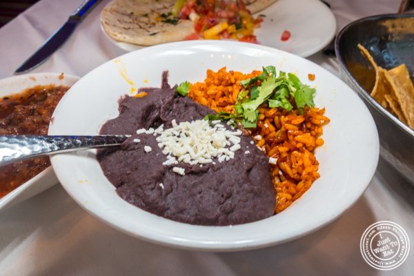 Rice and beans at Rosa Mexicano near the Lincoln Center