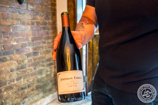 Johnson Family 2015 Pinot Noir at Ruumy's Tavern in Hell's Kitchen
