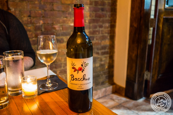 Bacchus Cabernet Sauvignon2015 at Ruumy's Tavern in Hell's Kitchen