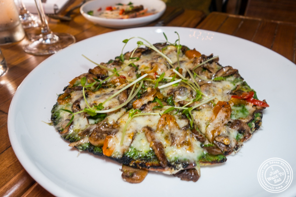 Mushrooms flatbread at Ruumy's Tavern in Hell's Kitchen