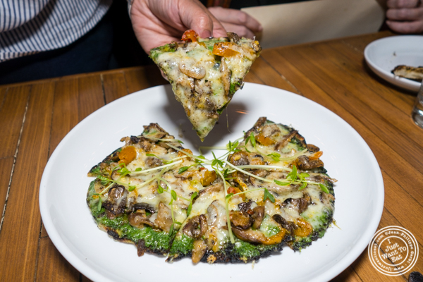 Mushroom flatbread at Ruumy's Tavern in Hell's Kitchen