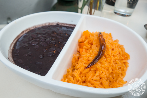 Rice and beans at Casa Enrique in Long Island City