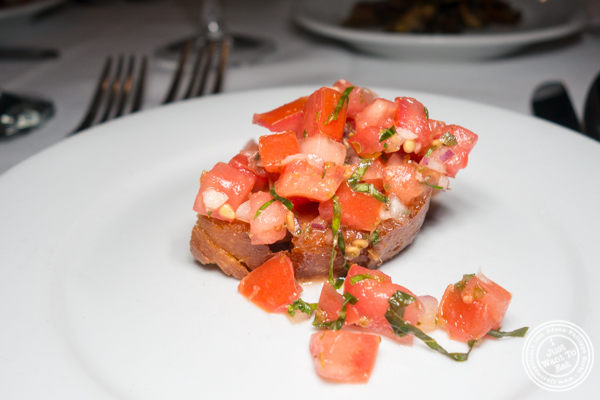 Bruschetta at Il Falco in Long Island City