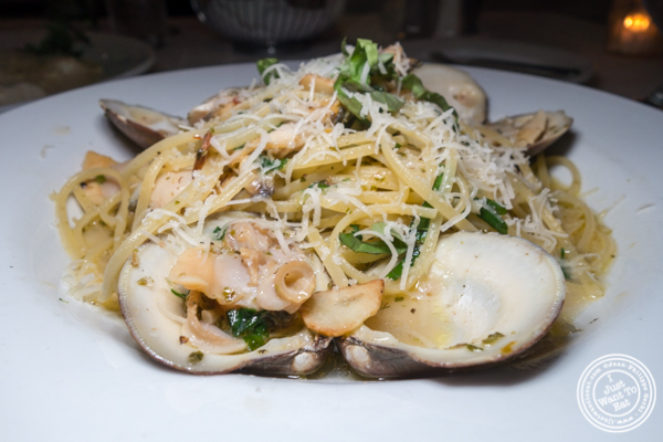 Linguine alle vongole at Il Falco in Long Island City
