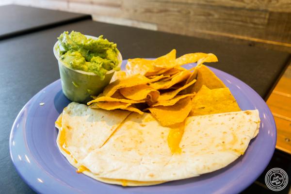 Cheese quesadilla at Surf Taco in Hoboken, NJ