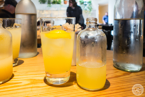 Meyer lemon and anise soda at NIX in NYC, NY