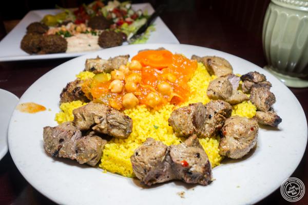 Lamb couscous at Ali Baba Middle Eastern Restaurant in Hoboken, NJ