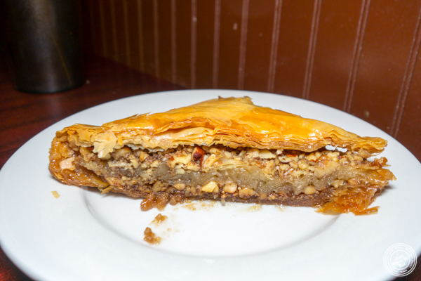 Baklava at Ali Baba Middle Eastern Restaurant in Hoboken, NJ