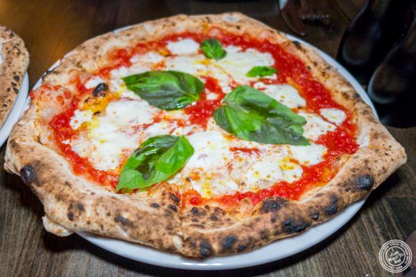 Margherita pizza at Zero Otto Uno in Hoboken, NJ