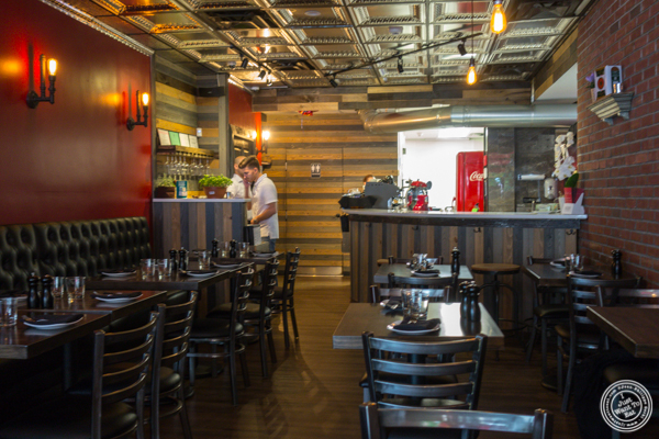 Dining room at Zero Otto Uno in Hoboken, NJ