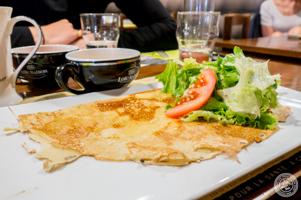 4 cheese crepe at Creperie Cadet Rousselle in Grenoble, France