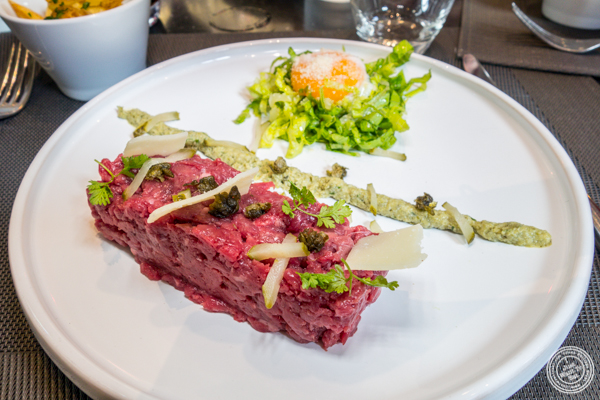 Steak tartare at Les Jardins de Sainte Cécile in Grenoble, France
