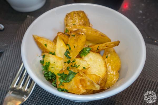 Fried potatoes at Les Jardins de Sainte Cécile in Grenoble, France