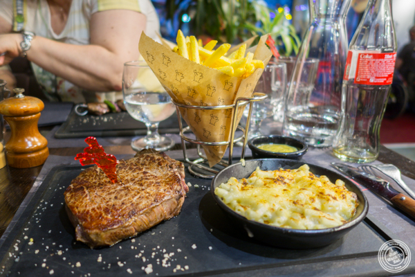 Bone in filet at Hippopotamus in Grenoble, France