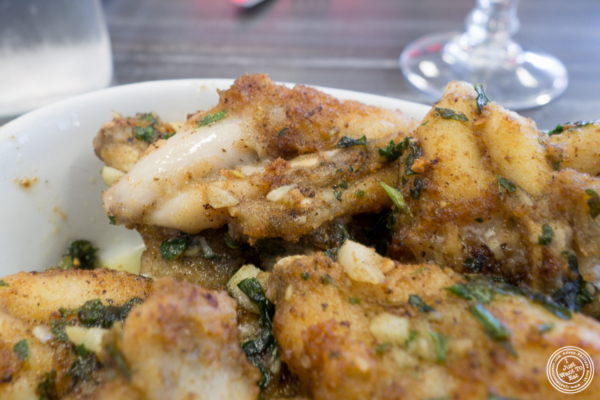 Frog legs at Cuisine du Sud, Les Halles Paul Bocuse in Lyon, France