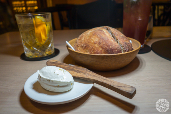Barley and sourdough bread at Agern, in Grand Central Terminal, NYC