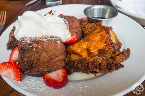 Fried chicken and French toast at The Vanderbilt in Brooklyn