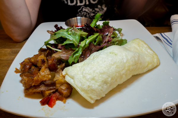 Egg white omelet at The Ainsworth in Hoboken, NJ