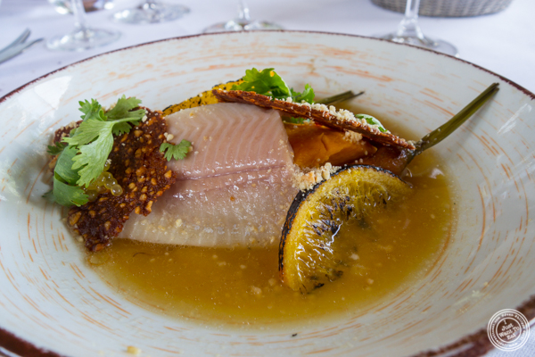 Organic trout at La Corne D'Or in Corenc, France