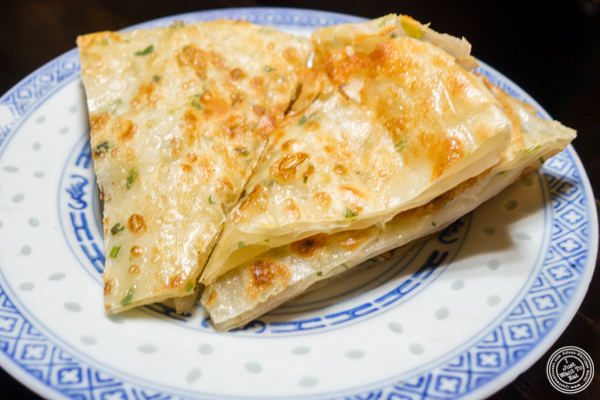 Scallion pancakes at Cafe China in NYC, NY