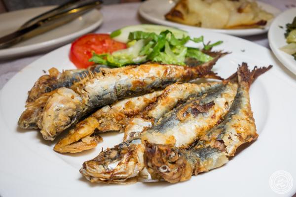 Fried sardines at Stamatis in Astoria, Queens